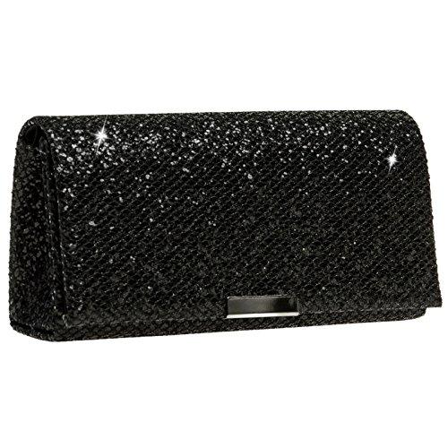 CASPAR TA342 Damen kleine elegante Glitzer Clutch Tasche Abendtasche