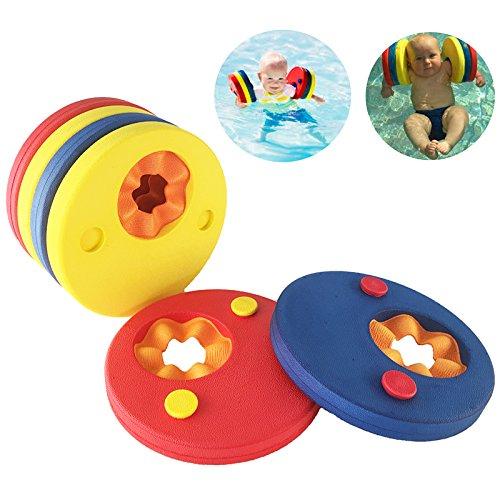 Schwimmscheiben, KingShark Schwimmscheiben Kids Schwimmreifen Schwimmhilfe Armbinden Schwimmer Discs Schaum Schwimmen Armbands (6 Scheiben)