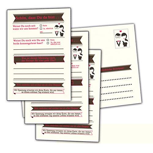 Hochzeitspiel 52 Postkarten Set mit Lustigen Fragen für Gäste Das Brautpaar Aufgaben Wochen Spiel Hochzeit Hochzeitsspiele Schön Dass Du da Bist Hochzeitsbuch Karten Gästebuch Vintage 12 Monate Stück