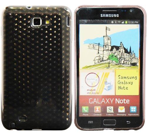 Luxburg® Diamond Design Schutzhülle für Samsung Galaxy Note GT-N7000 in Farbe Anthrazit Grau, Hülle Case aus TPU Silikon