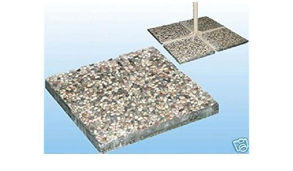 Piastra base cm graniglia cemento vari colori per ombrellone