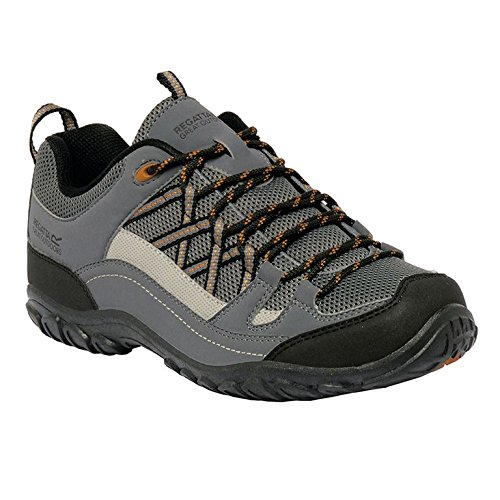 Regatta Edgepoint Ii, Chaussures de Randonnée Basses Homme Gris (Grani/gldcum)
