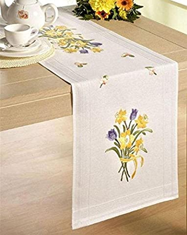 Bouquet de jonquilles 40 x 100 cm-Kit de broderie pour