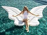 Casa jardín de alas de ángel flotador gran flotador hinchable para fiestas de piscina juguete hinchable de verano juguete fiestas piscina Talla:: 250* 180peso Supporté: 250kg, blanco, 250*180cm