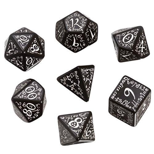 Schwarz-Weiß Elfen Würfel Set