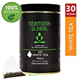Teamonk Nilgiri White Tea, 50 g (25 tazas) | Té de hoja suelta 100% natural para brillo e inmunidad | Té blanco Sei con bajo contenido de cafeína y antioxidantes | Té de hoja entera | Sin aditivos