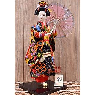 Japanischen Geisha Figur, Handgefertigt Kimono Beauty Tänzerin Kleine Statue Statuette Mini Ornament Vintage Kreative Collectibles Art Deco Geschenke Für Home Wohnzimmer Schlafzimmer