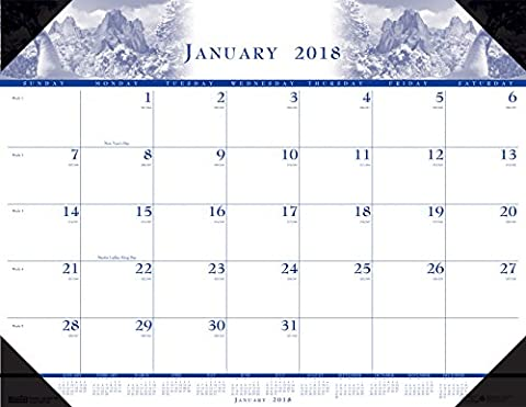 House of Doolittle 2018 Monthly Desk Pad Calendar, Illustrated, 22 x 17 Inches, January - December