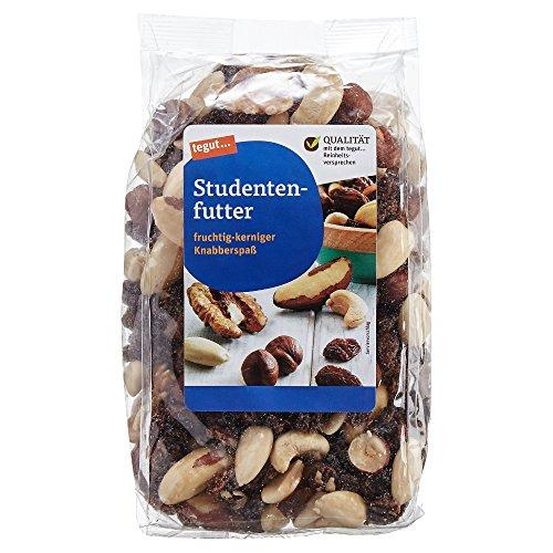 tegut... Studentenfutter Nussmischung mit Rosinen Cashewkerne Walnüsse Haselnüsse Mandeln - Ballaststoffreich Einweiß