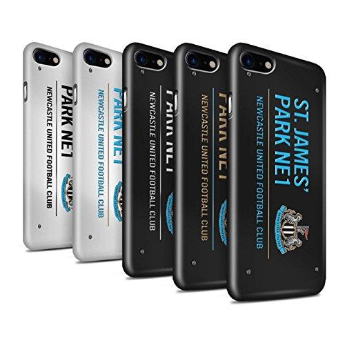 Officiel Newcastle United FC Coque / Clipser Brillant Etui pour Apple iPhone 7 / Noir/Or Design / St James Park Signe Collection Pack 6pcs