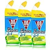 00 null null WC Aktiv Gel 3in1 Fresh Green 750 ml - Stark gegen Kalk (3er Pack)