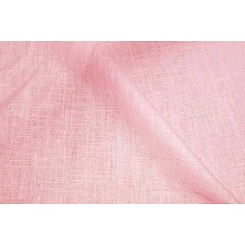 designers-factory - Coupe 100% lin rose - qualité supérieure
