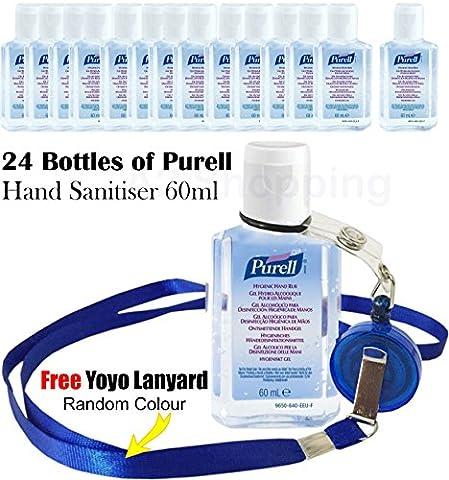 24x Bottles of Purell Hand Sanitiser Gel Handwash Liquid dispenser 60ml FLIP CAP