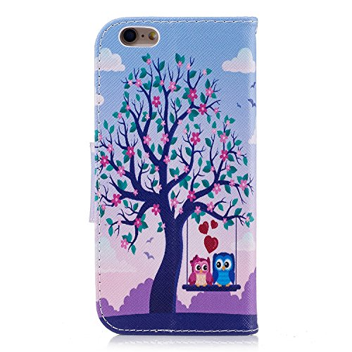 iPhone 6S Custodia Flip,iPhone 6S Custodia in Pelle,Slynmax Cute Panda Stampato Copertura Folio Cover PU Wallet Case Per iPhone 6/6S Protezione Caso Ultra Sottile Colorato Protettivi Covers Chiusura M Cover #10