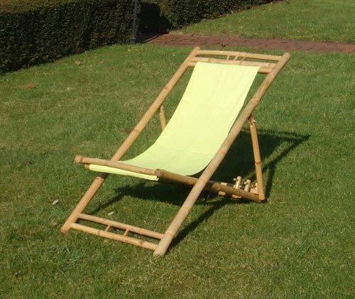 Bambus Liegestuhl höhenverstellbar - Farbe: grün -