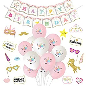 Luck Collection Unicorn Party Decorations Balloons Happy Birthday
