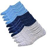 Herren Sneaker Socken Atmungsaktiv Unsichtbar Baumwoll Kurzsocken Sport Socken Boot Socken Männer Sport unsichtbare Socken aus Baumwolle Anti-Rutsch-Socken tief geschnittene Baumwollsocken