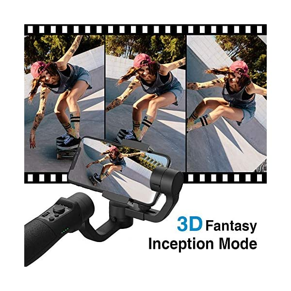 3-Axis Gimbal Stabilizer for Smartphone - Hohem iPhone Gimbal Stabilizer with Face Tracking Motion Time-Lapse APP… 3