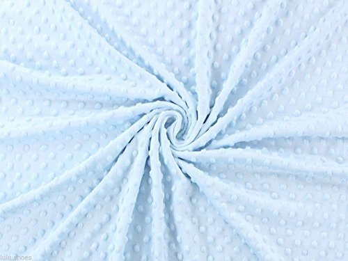 Supersoft Dot Cuddle Soft Fleece Stoff - 150 cm breit, Sky Blau (Meterware) (Dimples-stoff)