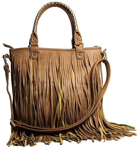 Big Handbag Shop , Damen Henkeltasche Braun Marrón - Medium Tan