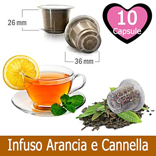 10 Capsule Tisana Infuso Arancia e Cannella Nespresso
