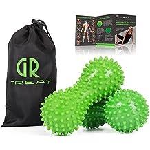 GR Igelball Massageball ( Satz von 2) Selbstmassagewerkzeug für Füße - Plantar Fasciitis Behandlung, Triggerpunktmassage, Muskelverspannungen Lindern