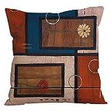 CLOOM Federa Cuscino Home Bed Decor Linen Square Decorativo Lancia Cuscino Fodera per Cuscino Cafe Casa Partito Divano Cuscino Copertura di Tiro Vacanza Cuscino(B,1PC)