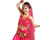 Bauchtänzerin Kinderkostüm Bollywood Kostüm Mädchen Faschings-Kostüme Gelbrot 140 146 Vergleich