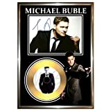 MICHAEL BUBLE - SIGNED FRAMED GOLD VINYL RECORD CD & PHOTO DISPLAY ------ christmas album