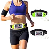 Champ C9AGM4517 BK-FS Nylon Waist Belt Pouch with Reflective Tape for Carrying Mobile