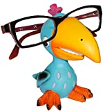 Unbekannt Brillenhalter -  lustiger Vogel - türkis / Papagei  - stabil aus Kunstharz - universal Größe - für Kinder & Erwachsene / Brillenhalterung - lustiger Brillen..