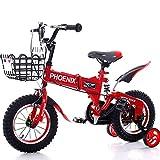 ZXUE Bicyclettes pour enfants 2-12 Ans Bébé Enfants Vélo Hommes et Femmes Amortisseur Bébé Voiture (Couleur : Rouge, taille : 12 pouces)