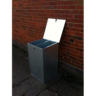 SMALL GALVANISED FEED BIN WITH DIVIDER