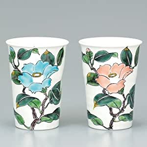 Kutani pair ceramica bicchiere di birra camelia giappone - Camelia giapponese ...