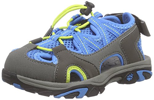 Jack Wolfskin LAKEWOOD CROSS SANDAL K, Unisex-Kinder Sport- & Outdoor Sandalen, Blau (brilliant blue 1152), 36 EU (3.5 Kinder UK)