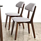 Yamyannie-Home Moderne Minimalist Kreative Stuhl Negotiation Stuhl Massivholz Zurück Dining Chair Showroom Chair 2 Sets (Farbe : Grau, Größe : 50x44x79cm)