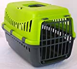 Urban Living Pet Carrier Seatbelt Holder Carry Handle Small Animal Transporter Green Grey Pink (Green)