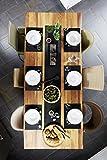 Homeshape Tischset 6er Set Inklusive Tischläufer und Platzsets abwischbar hitzebeständig und Rutschfest Esstisch-Deko in Farbe Schwarz - 2