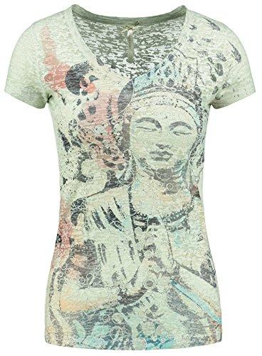 Key Largo Damen T-Shirt WT Buddha khaki M (T-shirt Grünen Buddha)
