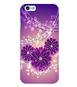 Citydreamz Floral Print\Glitters Hard Polycarbonate Designer Back Case Cover For Apple Iphone 6/6S
