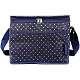 1 , Dots-Large : TEAMOOK Large Lunch Bag Insulated Lunch Box For Adults And Kids Dots 1pcs 24 Cans