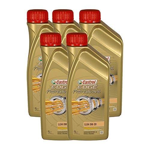 Castrol EDGE Professional Longlife 04 0W30 - Olio per Auto, Lubrificante a Lunga Durata Titanium 0W-30 5 Litri