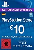 PSN Card-Aufstockung | 10 EUR | PS4, PS3, PS Vita Playstation Network Download Code - deutsches Konto -