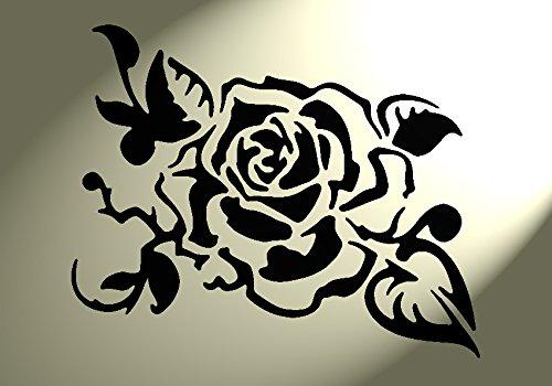 Shabby Chic Schablone Mitte Rose Blume Vintage A3420x 297mm Premium Möbel Art Wand