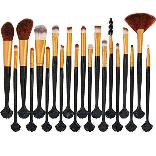 MAANGE 20pcs Set/Kit Maquillage Cosmétique Professionnel Cosmétique Brush Beauté Maquillage Brosse Makeup Brushes Cosmétique Fondation Marron