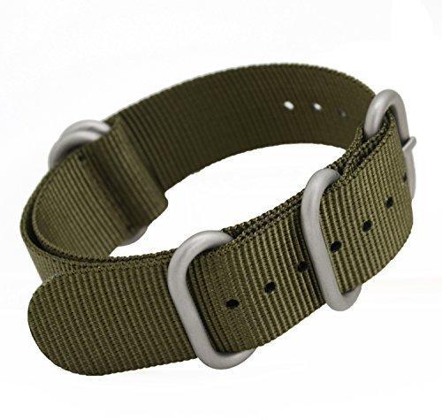 metastrap 20mm Cinturino in nylon Zulu cinturino (Verde Militare)