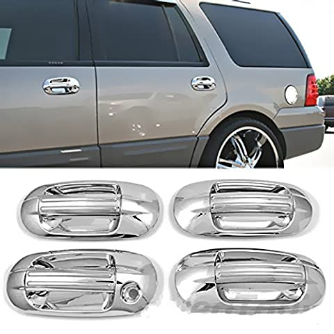 MaxMate 03-12 Lincoln Navigator/03-13 Ford Expedition Chrome 4 Doors Handle Cover W/O Passenger Side Keyhole by