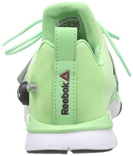 Reebok Zpump Fusion TR, Chaussures de Course Femme Vert - Grün (Seafoam Green/White/Coal)