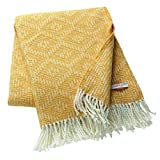 ESPRIT - Daria - Plaid Decke Tagesdecke Kuscheldecke Wohndecke Wolldecke Couchdecke Sofadecke - Größe: 140 x 200 cm - Farben: beige/gelb