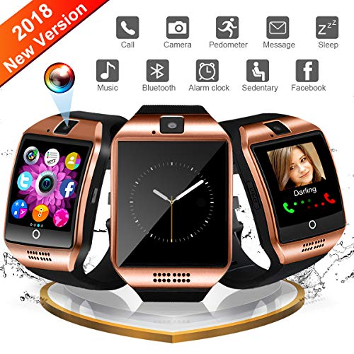 Bluetooth Smartwatch, Sport Uhr Fitness Tracker Wasserdicht, Schrittzähler Uhr, Schlaftracker, Stoppuhr für Herren Damen Alarm Anruf SMS Whatsapp Beachten Kompatible für Smartphone Android Handy